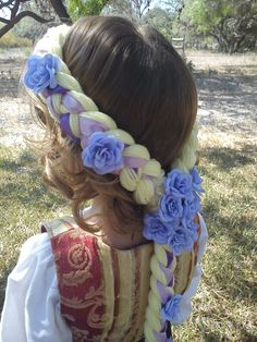 Cute Rapunzel hair idea