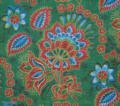 Russian Trade Cloth ( Backed on white cotton cloth) 56x123 cm - details.