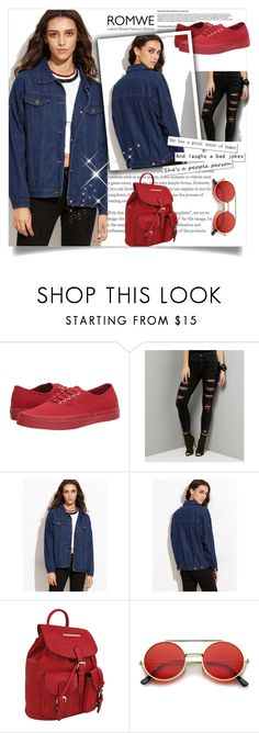 """""""Denim Jacket"""" by sanela1209 ❤ liked on Polyvore featuring Vans, New Look, MKF Collection and ZeroUV"""