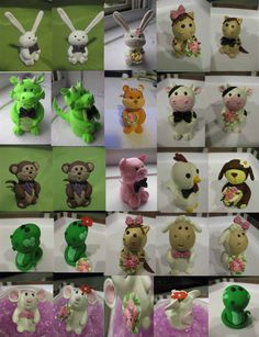 Customized Chinese zodiac animal signs cake toppers by S322Designs, $69.00