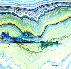 ebristanbul - Google'da Ara Water Paper, Paper Marbling, Ebru Art, Spirited Art, Turkish Art, Marble Art, Time Art, Art Techniques, Art Education