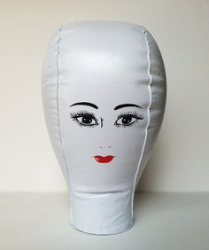 inflatable wig stand from 1970