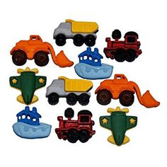 Mixed Transport - Zoom - Novelty Craft Buttons & Embellishments by Dress It Up