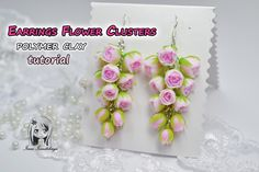 Earrings with flowers. Grapes. Polymer clay Tutorial (Fimo) ❤ ❤ ❤ If you like my video - subscribe so you won't miss my new tutorials ❤ ❤ ❤ *****************...