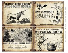 Halloween Liquor Labels
