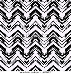 Black and white hand drawn pattern with zigzag lines. Vector seamless texture for web, print, home decor, textile, wrapping paper, wallpaper, invitation card background, summer fall fashion fabric