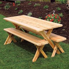 Red Cedar Crossleg 6ft. Picnic Table Set