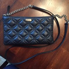 NWT Kate Spade Black Crossbody New with tags Kate Spade black leather/gold chain crossbody kate spade Bags