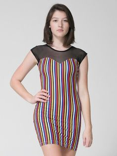 Printed Sweetheart Two-Tone Mini Dress