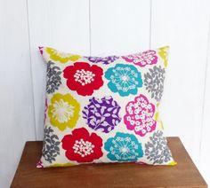 Housse de coussin bohème 40 x 40  cm Tissu  japonais Fleurs