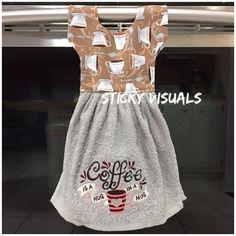 Coffee Is A Hug In A Mug Kitchen Oven Door Towel Grey Embroidered