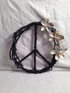 Natural handmade peace sign wreath with by LouisianaBeautiful, $20.00