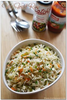 Veg Fried Rice Recipe - Chinese Vegetable Fried Rice - How to make fried rice   Sharmis Passions