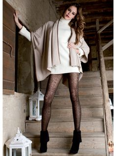 8cac0eb68 Trasparenze Belarus Fume Lace Tights Made in Italy