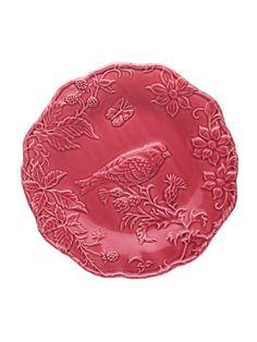 Mostrar detalhes para Prato  25,5 c/ Goldfish Rosa Escuro
