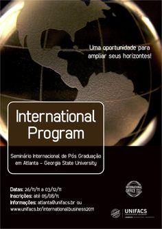cartaz divulgação seminário internacional