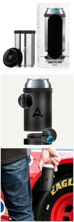 Kick that Koozie to the curb - this is the last can cooler you will ever need. Corkcicle Arctican keeps cold cans cold for up to 3 hours.