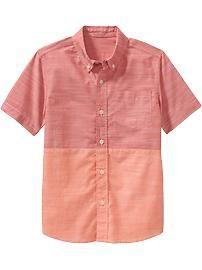 Boys Color-Block Shirts