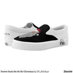 Festive Santa Ho Ho Ho Christmas Slip-On Sneakers - Just sold another pair of these at DP_Holidays on Zazzle.