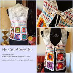 Marisa Tricot Crochet e Acessórios: Colete Crochet Alegria
