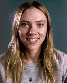 Scarlett Johansson with no makeup for Vanity Fair.