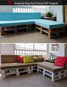 31 Insanely Easy And Clever DIY Projects  http://www.livinggreenandfrugally.com/31-insanely-easy-clever-diy-projects/