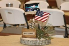 Eagle Scout Court of Honor Table Decorations | Eagle Scout Court of Honor centerpiece. Each of the 12 tables had a ...