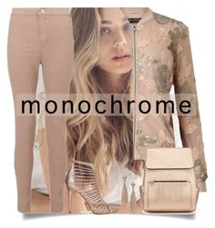 """Monochrome: Nudes"" by easy-dressing ❤ liked on Polyvore featuring Miss Selfridge"