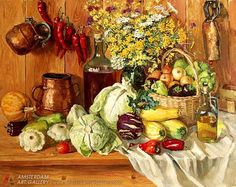 Painting for sale 'Still life with vegetables'  painting art sale realism still life paintings
