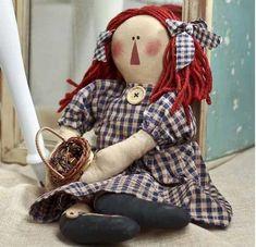 ... Tea Dyed Raggedy Ann Doll - Primitive Dolls - Primitive Decor