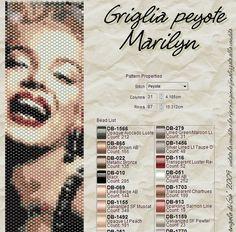Ho ricevuto alcune richieste per le griglie numerate degli schemi di Marilyn che ho fatto un pò di tempo fa.   Così ho realizzato degli sc...