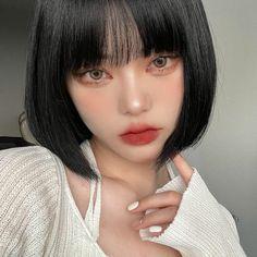 Cool Makeup Looks, Cute Makeup, Hair Makeup, Korean Beauty, Asian Beauty, Korean Hair Color, Kawaii Makeup, Asian Eye Makeup, Ulzzang Korean Girl