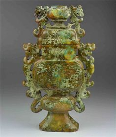 jade carved nephrite incense burner dragon statue chinese antique vase old china