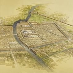 An artistic rendition of ancient Babylon. The Babylonians in league with the Medes defeated Assyria in 632 BCE.