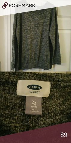 Nearly New Old Navy Sweater. Gray sweater from old navy. It's not very thick and is someone see through when it's in the light. Old Navy Sweaters