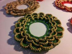 Le cosette di Sandrine: Lavoretti di Natale. .....sono dei sotto candele per fare dei centrotavola.....
