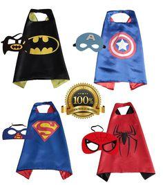 d7002f302f 4 PACK Satin Superhero CAPE Lego Batman Bane, Lego Spiderman, Boy Costumes,  Minion