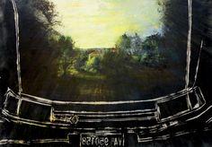 Ferdinando Greco,  Nuovo specchio per paesaggio antico  tecnica mista, 130x180cm,  1993 Opera, Bugatti, Past, Tapestry, History, Painting, Tapestries, Opera House, Paintings
