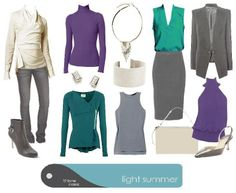 Truecolour.com.au. Light Summer, dramatic and sophisticated, day look.
