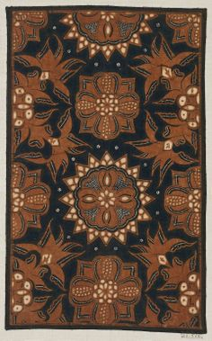 Batik sample Indonesian (Javanese), Dutch colonial rule, late 19th century Textiles, Textile Prints, Indonesian Art, Batik Art, Dutch Colonial, Javanese, Traditional Fabric, Batik Dress, Peacocks