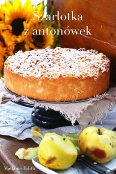 Szarlotka z antonówek - co za smak! Dessert Recipes, Desserts, Tiramisu, Sweet Tooth, Food Photography, Thanksgiving, Pie, Sweets, Bread