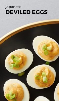 Japanese Deviled Eggs. Elevate your deviled eggs with fun Japanese-inspired flavors. Spicy wasabi, flavorful chile garlic sauce and earthy soy will take your eggs from just edible to incredible! Don't do the same old thing with deviled eggs, try a fun twist on everyone's party fav!