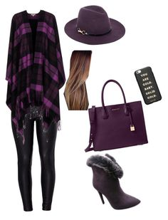 """""""Winter and pretty outfit"""" by edi-rui on Polyvore featuring moda, Venus, P.A.R.O.S.H., Michael Kors, Monsoon y ban.do"""