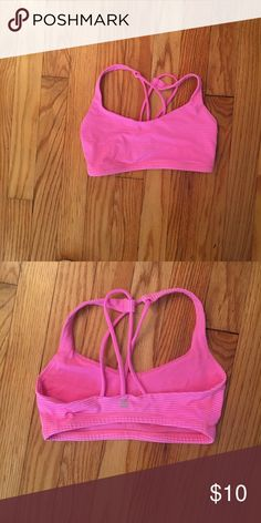 f9731b5285730 Shop Women s lululemon athletica Pink size 2 Bras at a discounted price at  Poshmark. Description  Lululemon sports bra size 2 in hot pink!