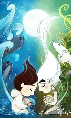 Best Animated Movies For Adults From 1957 till 2019 - Song of sea Illustration Inspiration, Illustration Art, The Secret Of Kells, Sea Drawing, Character Art, Character Design, Song Of The Sea, Book Of Kells, Illustrations