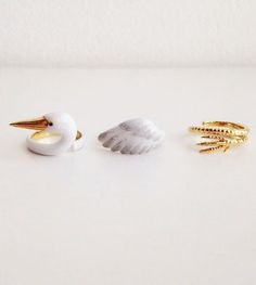 3-Piece Rings That Need to Be Worn at Once to Become Playful Animals - My Modern Met