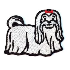 Lhasa Apso Dog Custom Iron-on Patch With Name Personalized Free