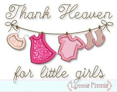 THANK+HEAVEN+For+Little+GIRLS+Clothesline+Applique+by+LynniePinnie,+$2.99