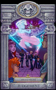 Ghoul School Tarot: Judgement by on DeviantArt Cartoon Monsters, Cartoon Games, Old Cartoons, Disney Cartoons, Fan Anime, Anime Art, Ghoul School, Different Drawing Styles, Scooby Doo Movie