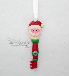 Santa's Magic Key Christmas Ornament  Key by Wishcraft2013 on Etsy
